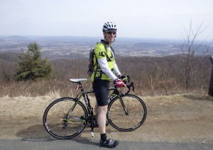 Cycling on Skyline Drive