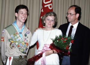 My mom and dad with me the day I got my Eagle Scout.