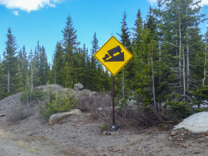 Grand Mesa's idea of a cruel joke.  It prepares you for a fun downhill only to meet you with an updraft so strong you need to peddle to go downhill.