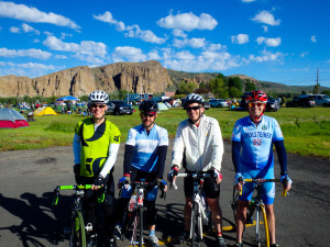 Team World Bicycle Relief sets out from Gunnison to Crested Butte