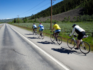 Team WBR riding to Crested Butte with honorary member Cameron who we met the day before.
