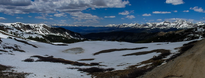 Above the tree line, we had a stunning view in all directions from the top of Cottonwood Pass