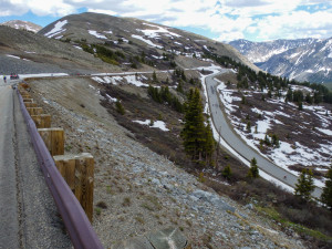 "This is the road down from Cottonwood Pass.  From the start it yelled ""Fun!"""