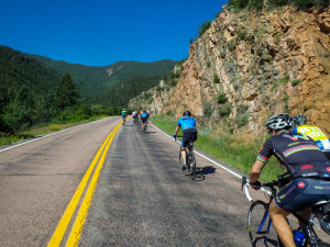 Climbing Hardscrabble Pass to the finish line