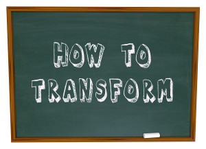 How to Transform words on a chalkboard to illustrate advice, kno