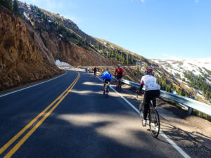 climbing Independence Pass